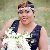 Dazzling Bride With Her Bouquet