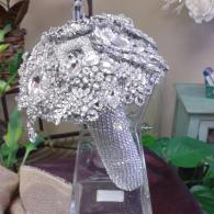Stunning Bejeweled Brooch Bridal Bouquet