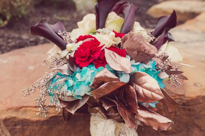 Gorgeous Bronze-Toned Bridal Bouquet